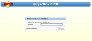 Fritzbox Weboberfläche
