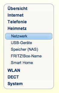 Fritzbox Heimnetz Netzwerk