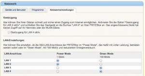 Fritzbox Gigalan Netzwerkeinstellungen