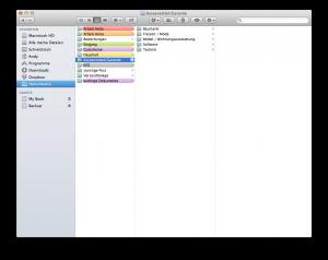 Finder Mac farblich